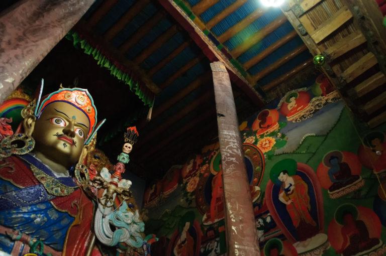 statue of Guru Rinpoche in Hemis monastery.