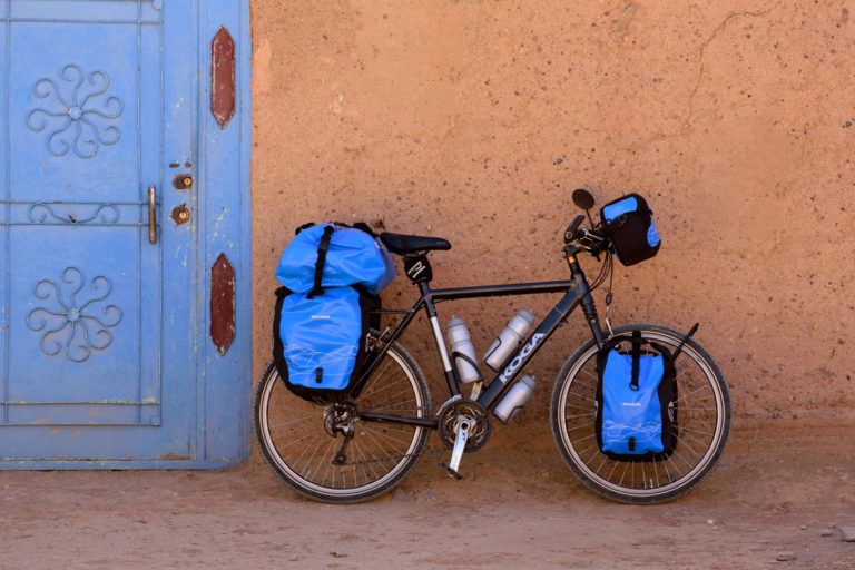 A touring bicycle in Morocco