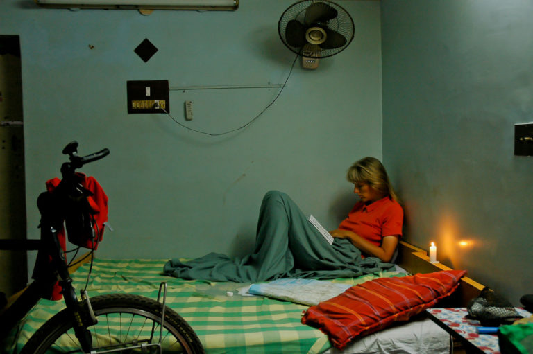 A hotel room in India