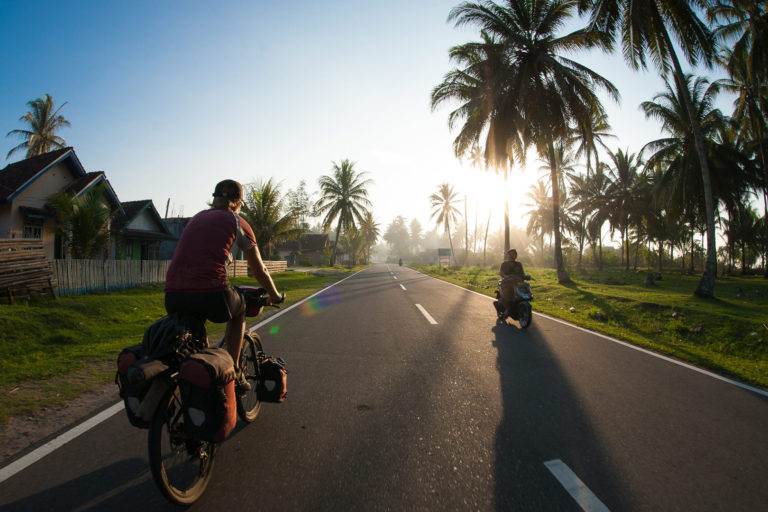 Mark Watson and Hana Black cycle through Indonesia.